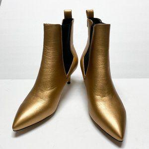 FSJ Pointed Toe Stiletto Mid Heel Boots Pumps